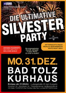 Die ultimative Silvester Party Gala 2018 - Bad Tölz - 31.12.2017 - Partymafia Eventagentur