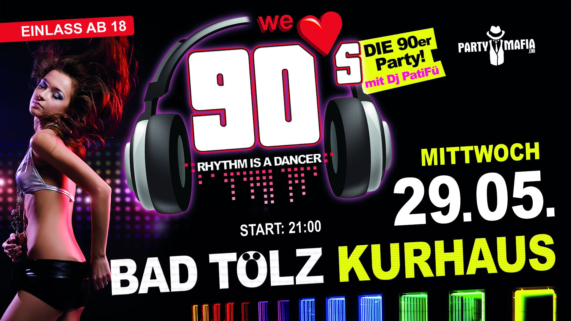 Party Highlight, Kultparty in Bad Tölz: Die neue 90er Party
