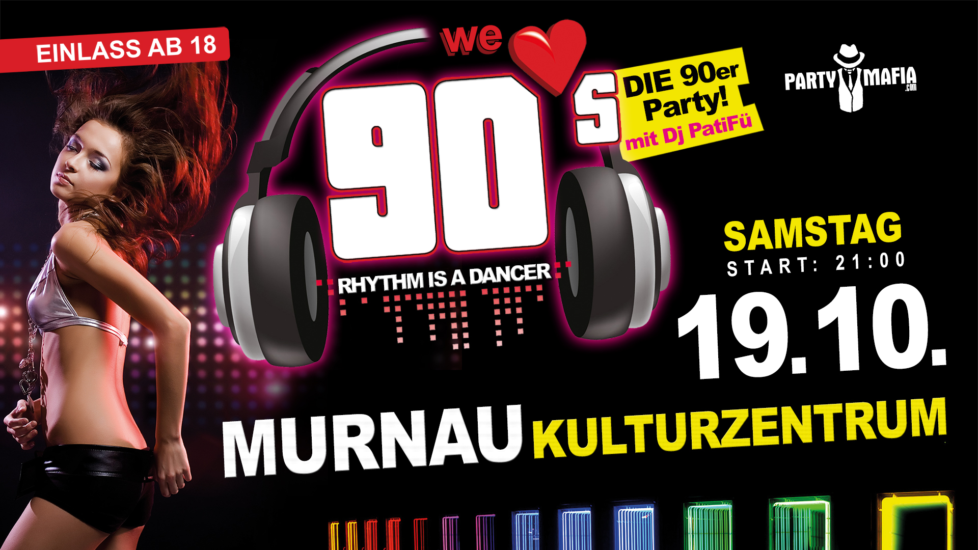 Party Highlight, Kultparty in Murnau: Die legendäre 90er Party