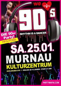 90er Party Highlight in Murnau: Die 90er Party we love 90s